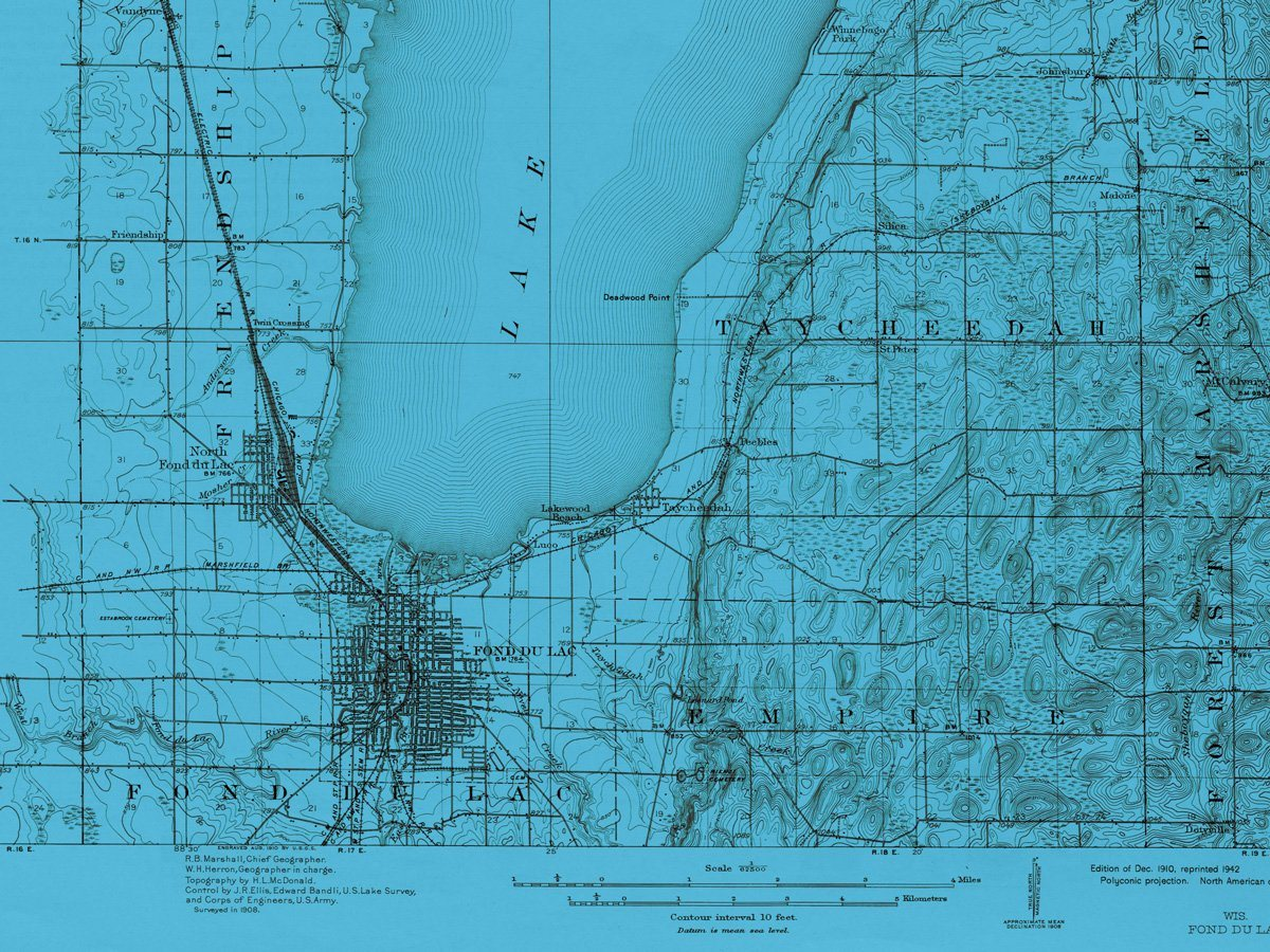 Map of Fond Du Lac, 1910